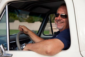 Owner and driver of custom Ford F-100