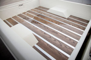 Custom Ford F-100 with bed floor made of polished ash wood