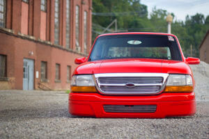 2000 Custom Ford front view featuring the low stance