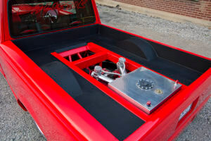 View of the bed on custom 2000 Ford Ranger