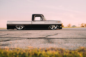 Side view of Julio Garcia's custom 1970 Ford F-100