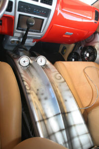 airbrushed details on the interior of the custom 1997 Toyota Tacoma