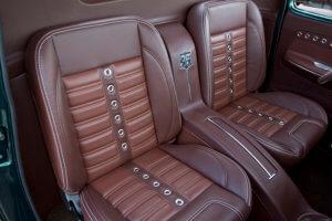 Custom leather seats.
