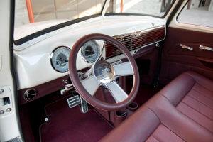Smoothed dash, intro steering wheel and Dakota Digital gauges.