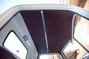 LMC truck headliner colored to match the brandy interior