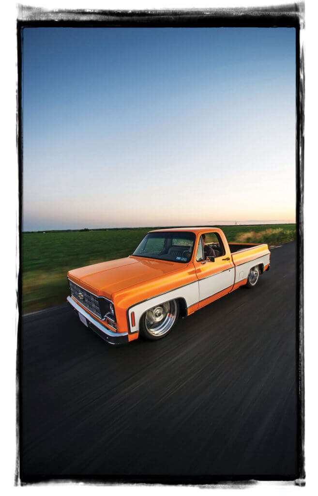 Sibling Rivalries was built by the brothers for Chris Reyna and graced the cover of Street Trucks. It was the first C-10 they built in the early part of the square-body year range to receive national acclaim.