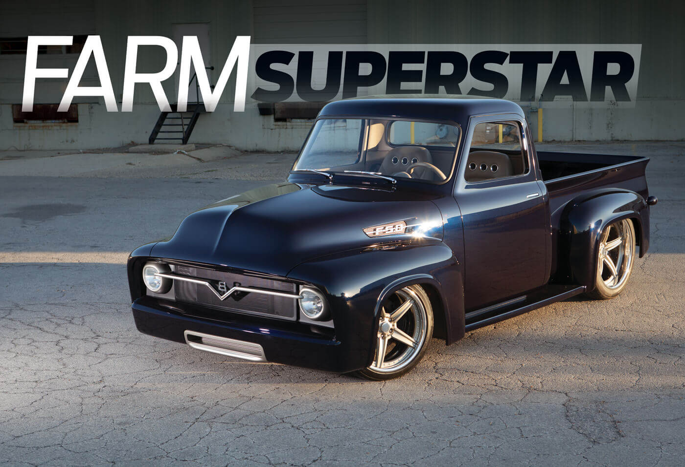 Farm Superstar Kindig It Designs 54 Ford F 100 Street Trucks 1954 Chevy Truck Bed