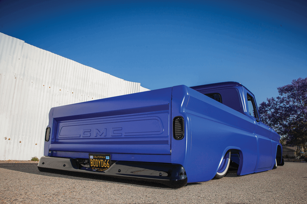 BLUE NIGHTMARE – Bagged '66 GMC 1500 short-bed | Street Trucks