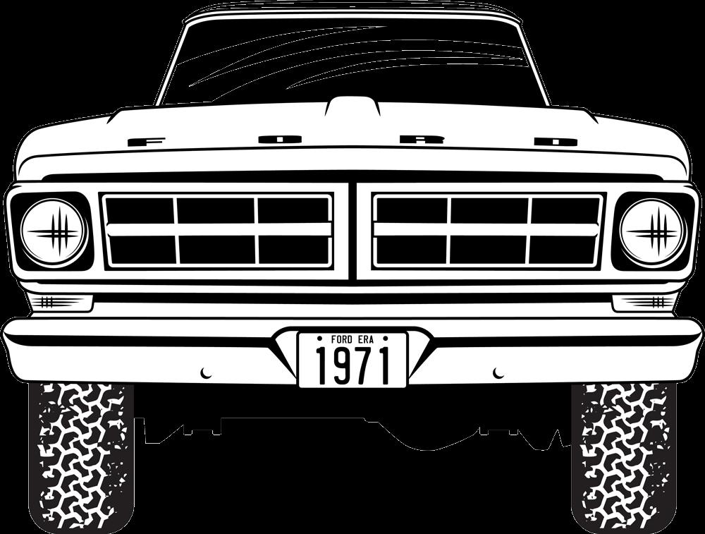 1954 Ford truck Ford pickup V-8 radiator grille emblem