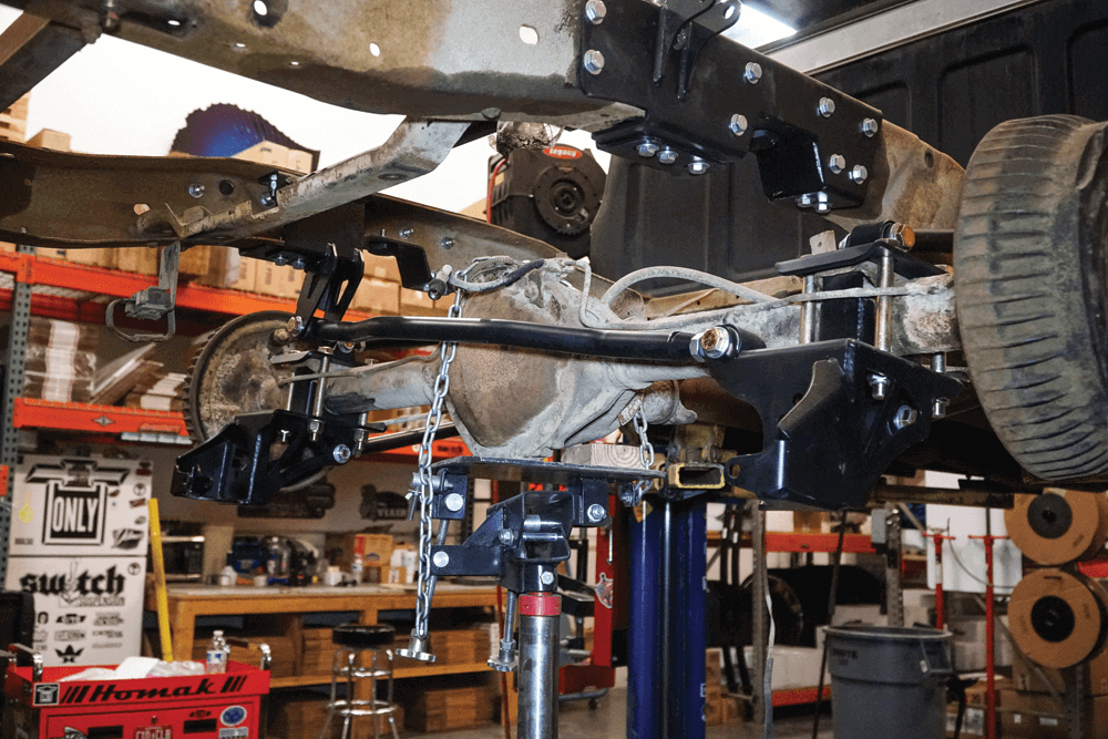 Ridetech coil-over system installation on a 1973 Chevy C-10