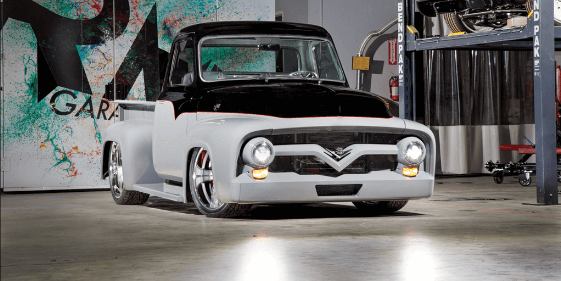 Custom 1955 Ford F-150 in RMD Garage