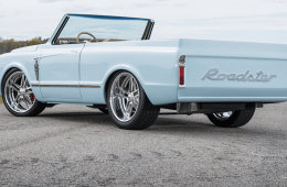 Light blue Royster c10 on the country road