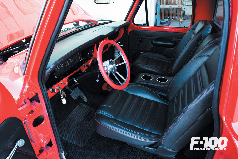 Red '68 Ford F-100 with TMI interior