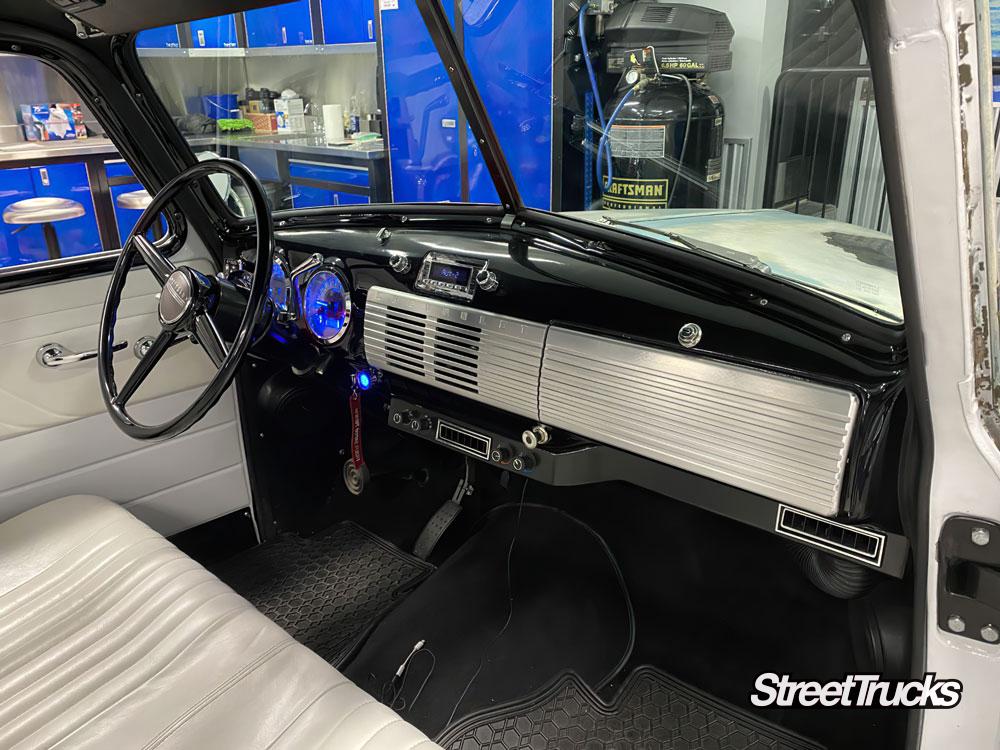 custom truck parts, billet glovebox door and speaker grille