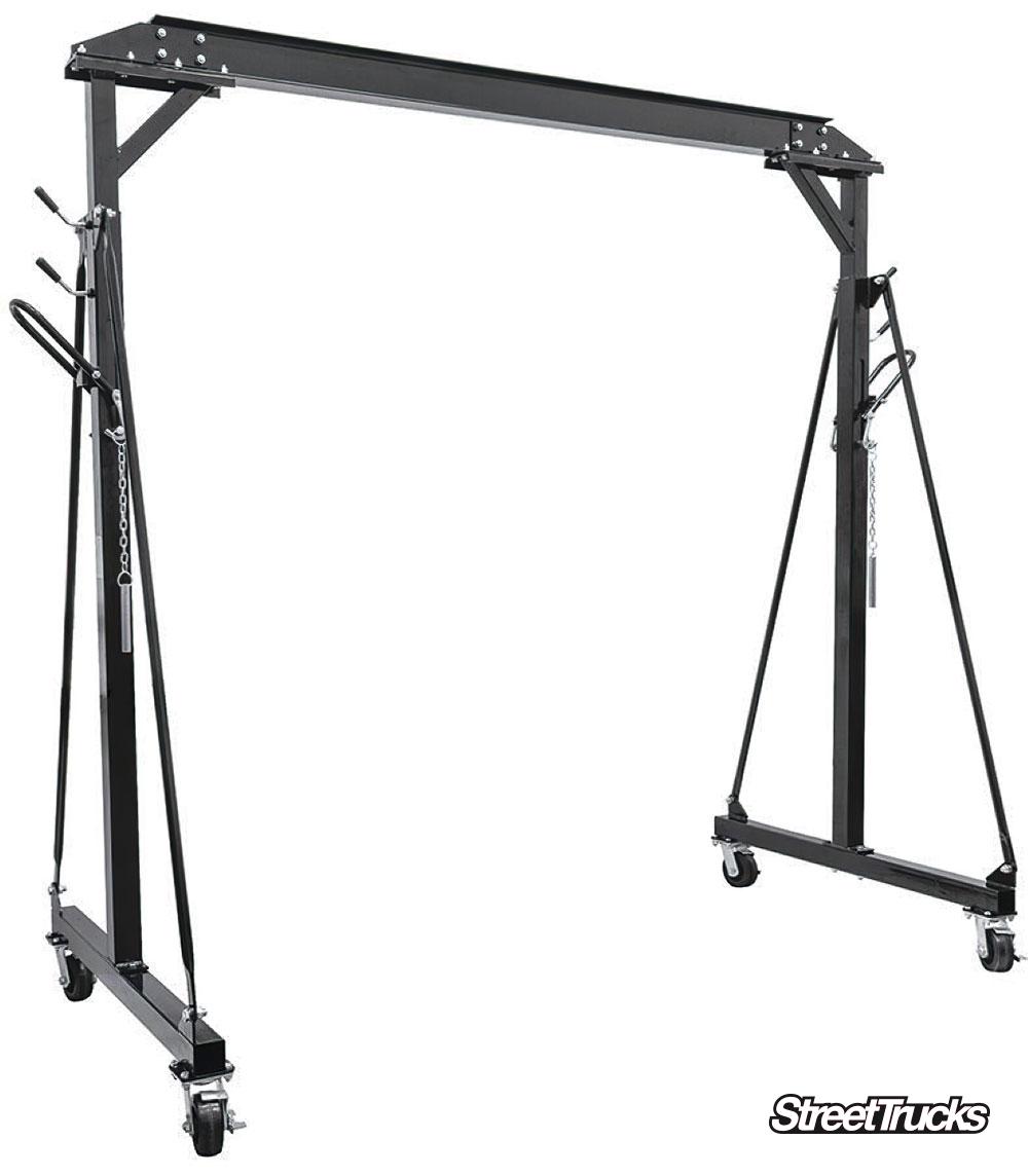 One-Ton Adjustable Height Gantry Crane from Summit Racing Equipment