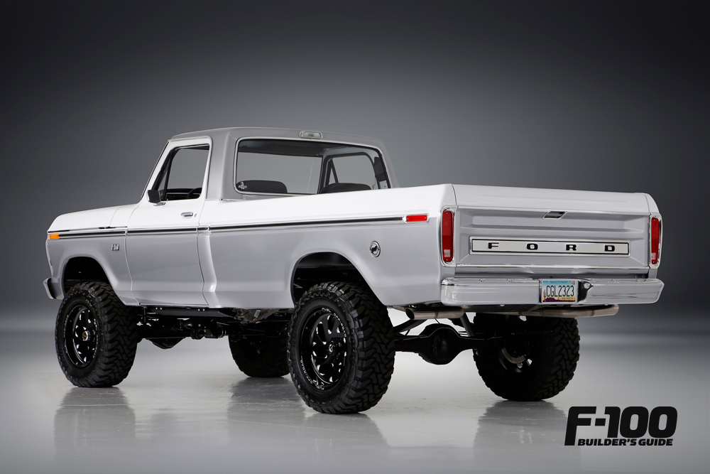 1976 F-150 Lifted with black wheels