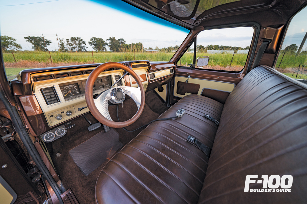Interior of a 1980 Ford F-100
