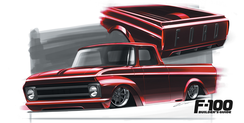 Deep Red '61 Ford