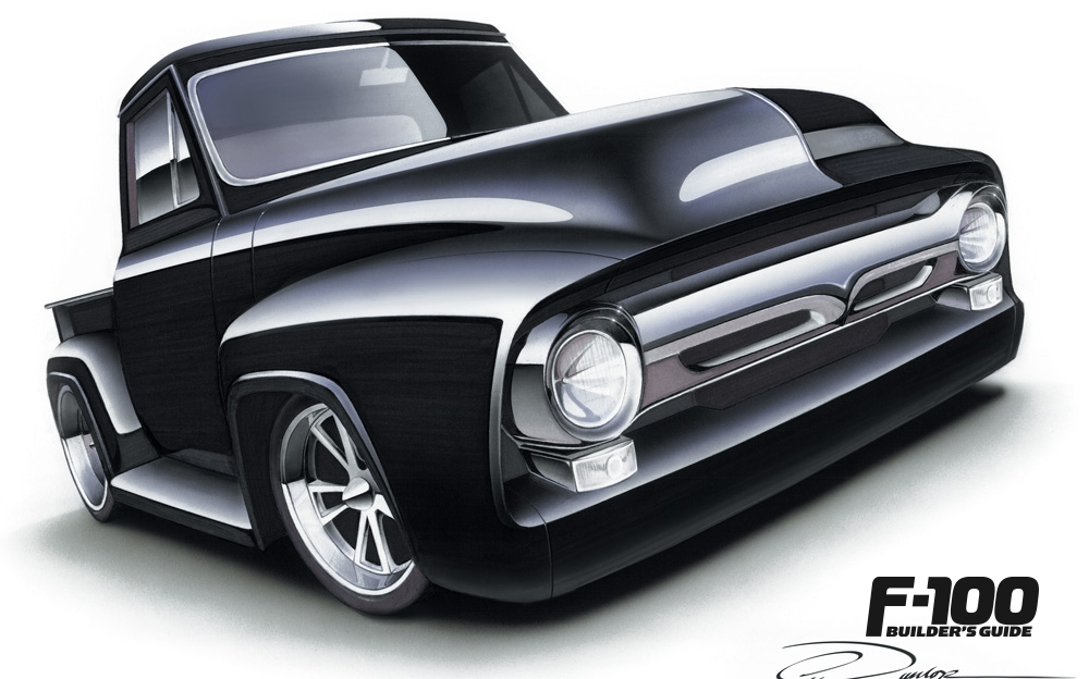 Hand-drawn black F100