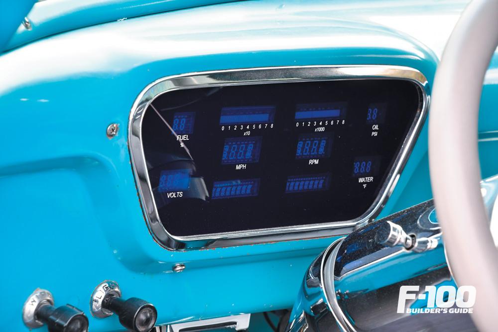 Ford F-100 with a digital dakota dash