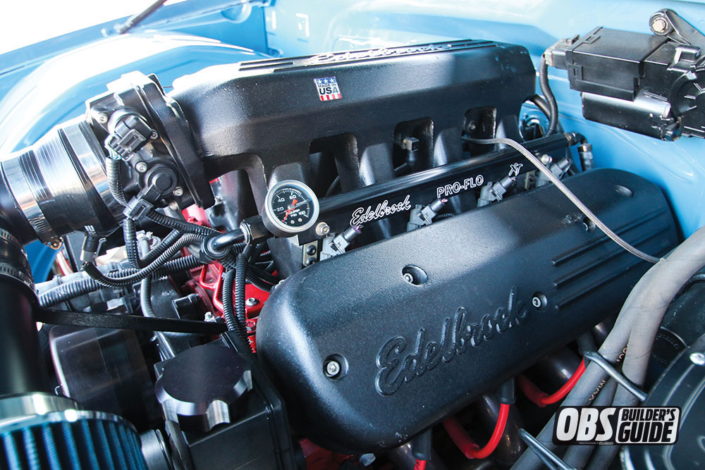 Edelbrock coil pack covers on a 1990 Chevrolet