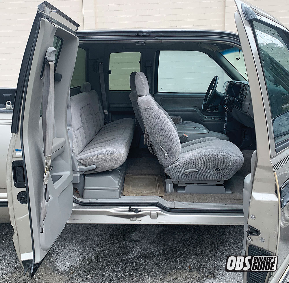 """Interior on a 88"""" to 98"""" Chevy Truck"""