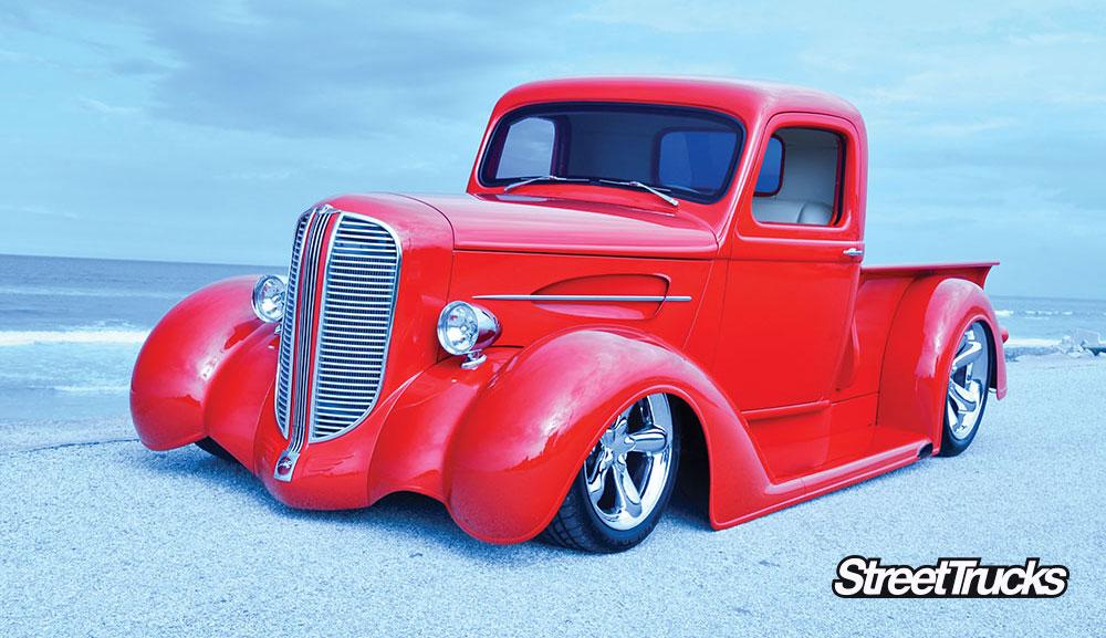 Red 1938 Dodge pickup